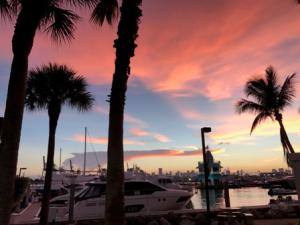 Sunset Miami Beach, no filter