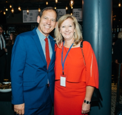 Bradford Newquist (CEO Second City) and LauraJane Hyde (CEO Gilda's Club)