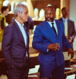 Mayor Rahm Emanuel with Theaster Gates