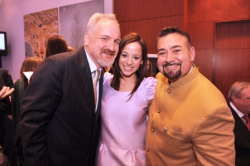 Common Threads' Chef Art Smith, Linda Novick O'Keefe and Jesus Salgueiro
