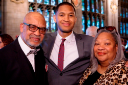 Honoree Anthony Clark with his parents