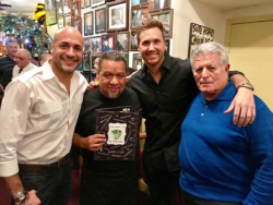 Authors/restaurateurs Armando Vasquez and Joey Mondelli with Ryan Chiaverini and friend