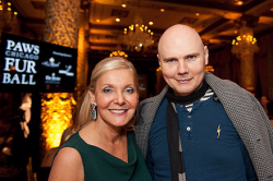 PAWS founder Paula Fasseas with supporter Billy Corgan