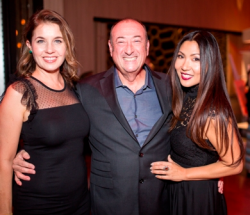 Josephine Lee (R), CCC president/artistic director, with Joe Shanahan, owner of the Metro and CCC board member, and his wife Jennifer.