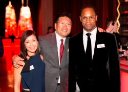 Ellee Pai Hong, CCC board member and host of Comcast Through the Decades, John Hong, and Yusef Jackson, CCC board member