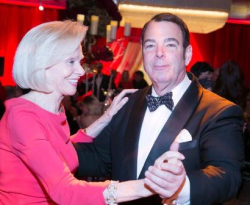 The always dapper Peter Martino with the always beautiful Mamie Walton!
