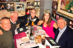 With Michael Kutza, Chuck and Leslie and Robert Zemeckis at La Scarola