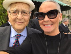 With the legendary Norman Lear, one of the speakers at the LA service.