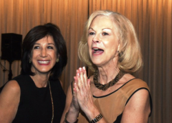Marlene Iglitzen and Christie Hefner at Chicago tribute