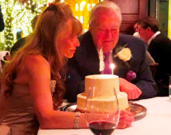 Donna LaPietra and Bill Kurtis dined at Chicago Cut following their wedding.