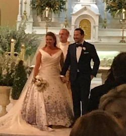 Monsignor Ken Velo introduces the new Mr. and Mrs. Collin Pierson