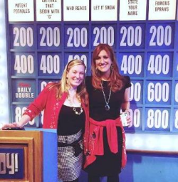 Katie Ingersoll & Gina Merlo on the Jeopardy Set