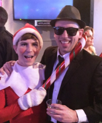 "Tommy ""The Elf"" Holl and Blues Brother Damian Clark"