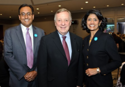Ashish Prasad, Senator Dick Durbin, Ashley Prasad