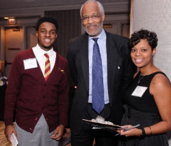 Bob Slaughter with CTK Senior Tim and alumni counselor, Myisha McGee