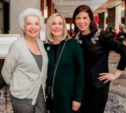 LSCRF Founders Charlene Lieber and Terri Lind with LSCRF Chair Hollis Hanover