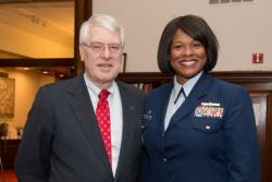 ULCC President William Nissen and Zeita Merchant