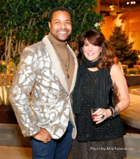 Cool designer Ramsey Prince (Ashland Addison Floral & Event Decor) and friend