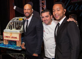 Legend and Common with Buddy the Cake Boss