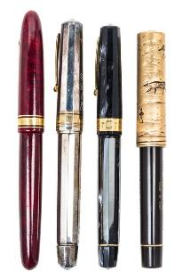 A part of a beautiful collection of pens.
