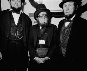 An image from the Unconventionals (a Lincoln impersonator convention!)