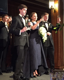 Nicholas, Alexis and Sean Stryker toast the happy couple!