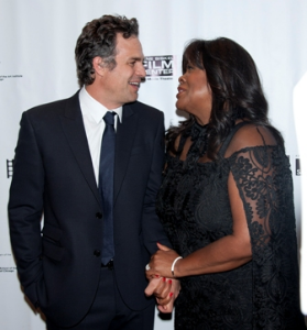 Ruffalo and Chaz Ebert share a sweet moment