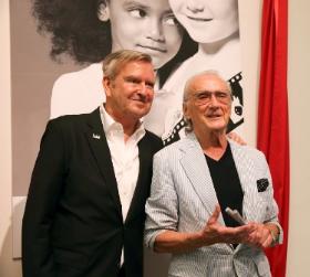 Michael with longtime collaborator Victor Skrebneski