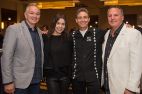 Casino Chicago co-chairs Chris Walsh, Dan Roesch and Mike Balkin with Annie Duke