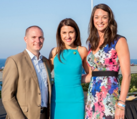 BLU co-chairs Jay Healy, Christina Talarico and Alexis Geocaris Sutton