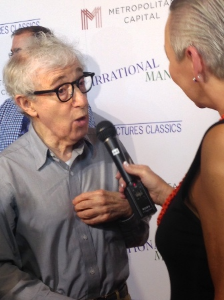 With the legendary Woody Allen