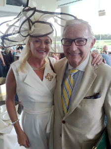 Heather Johnston and and Richard Duchossois (owner at Arlington)
