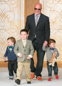 Peninsula catering director Greg Hyder with the Mackey boys, Reed, Aidan and Jack.