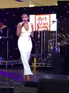 Jennifer Hudson performs at Art Van opening in Lombard.