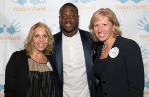 Marissa Rudman, Dwayne Wade and Marty Wilke