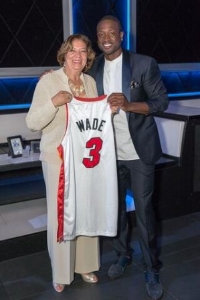 Carolyn Palmer and Dwayne Wade