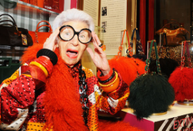 International fashion star at age 94!