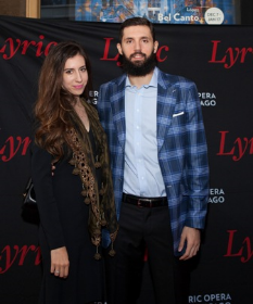 Chicago Bulls player Nikola Mirotic and his wife Nina