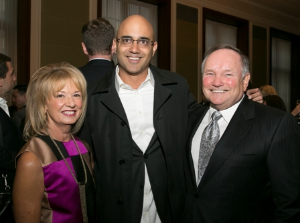 Board Chair Joan Clifford, Ayad Ahktar and Bob Clifford