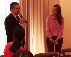 Randy Hano, CS Mag VP/Associate Publisher introduces Aerin Lauder