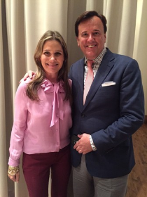 Aerin Lauder with Kehoe Designs' Vince Hart