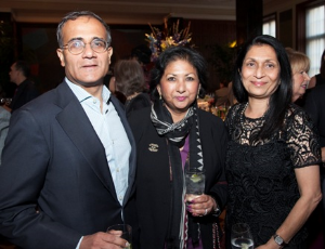 Rishad and Rekha Tobaccowala with Women's Board President/Trustee Swati Mehta