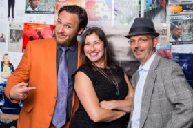 Collaboraction board prez Nik Rokop, executive director Darcy Addison and artistic director Anthony Moseley