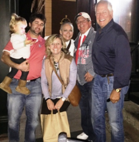 With dear friends little Hadley, Billy and Natalie Steppig, Mike Sager and my heart Chuck