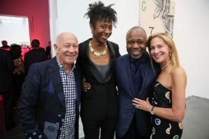 Larry Fields, Naomi Beckwith, friend, Marilyn Fields