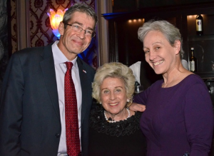 Consul General of Israel Roey Gilad, Lois Zoller and Nitza Gilad