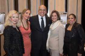 SC Gala co-chairs Cookie Cohen and Susan Gohl with Buccellati CEO Randal Soto, SC pres Myra Reilly and Vonita Reescer