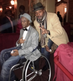 IMG_4675Chi-Raq cast member Eric with Actor James T. Alfred of Empire