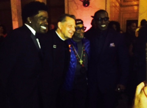 Cast members George Wilburn, Father Pfleger, Spike and Wesley Snipes