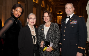 Collett Holt, Kay Smith, Julia Smith and Major Robert Bland, ILNG